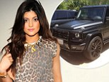 Finer things: Kylie Jenner, shown at the After Earth premiere last month in New York City, recently posted a tweet about her Mercedes-Benz G Class SUV