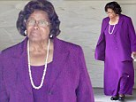 Katherine Jackson looks somber after church service...as Paris is moved to same hospital where her father Michael passed way