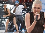 She certainly is WILD! Jessie J performs at the Summertime Ball in an entirely see-through dress... before raising eyebrows with her very sexy dance moves