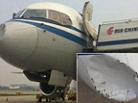 The front of the Air China Boeing 757 had been pushed in