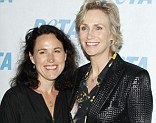 Parting ways: Jane Lynch has announced plans to divorce wife Lara Embry
