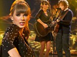 Love is in the air! Taylor Swift and Ed Sheeran perform flirty duet about childhood romance on Britain's Got Talent