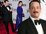 One for the album! Tom Hanks snaps wife Rita Wilson on the red carpet, then loses the leading actor Tony Award to Tracy Letts