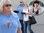 Taking a break: Debbie Rowe takes a break from visiting her daughter Paris Jackson in Hospital over the weekend by visiting a horse show and Mexican restaurant