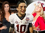 He might have some explaining to do! Model claims she 'spent the night' at Katherine Webb's boyfriend A.J. McCarron's home