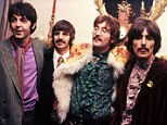 Pop group The Beatles in their Apple offices in Saville Row, London