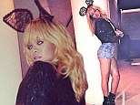 Do the bunny hop! Rihanna wears rabbit ears and hotpants before playing to a sell out crowd in Cardiff