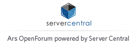 Ars OpenForum powered by Server Central
