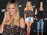 Such good friends, they even coordinate! Ashley Tisdale and Vanessa Hudgens lead the stars in denim at Myspace party