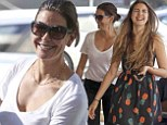 Teri Hatcher and teenager daughter Emerson share some giggles as they grab a frozen yogurt snack