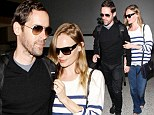 Frequent fliers: Jet set couple Kate Bosworth and fiancé Michael Polish rack up more air miles