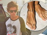 Harry Styles has a new tattoo on his feet with george michael lyrics to careless whisper