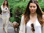 A fresh start! Jessica Biel wears all white after reportedly signing with husband Justin Timberlake's talent management agency