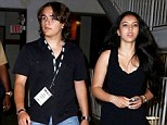 Back to normality: Prince Michael Jackson headed to the season six premiere of True Blood on Tuesday night with his girlfriend Remi Alfalah