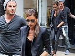 Retired David Beckham settles into his new life as full-time dad and husband as he accompanies wife Victoria on shopping trip
