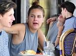 Hopelessly devoted! Tallulah Willis showers her boyfriend Lucas Vercetti with kisses and cuddles over breakfast