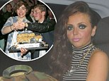 Little Mix's Jesy Nelson looks unimpressed as Union J singer George Shelley ruins her cake by throwing it at photographers after her birthday party