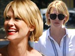 All banged up! January Jones makes a blunt hair statement a new heavy fringe