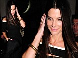 London fun: Sandra Bullock dresses sexy for her night out at Nobu restaurant in the British capital