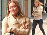 Card shopping: Hilary Duff shopped for a Father's Day card on Wednesday in the Studio City area of Los Angeles