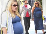 Heavily pregnant Busy Philipps shows no signs of slowing down as she enjoys lunch date with husband Marc Silverstein