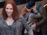 What first attracted you to the superhero Captain America? Scarlett Johansson and Chris Evans FINALLY share a kiss as they film sequel