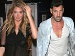 Pictured: New couple Kate Upton and Maksim Chmerkovskiy on romantic dinner date (and his top is more low cut than hers)