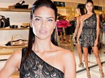 Adriana Lima at the VC Signature flagship store opening in New York