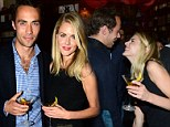 Can't take my eyes off you: James Middleton and Donna Air look besotted as they attend whisky party