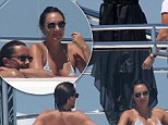 Tamara and Jay on honeymoon on a super yacht in the south of France
