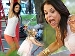 She's not too posh for playgrounds! Bethenny Frankel monkeys around in the park with daughter Bryn