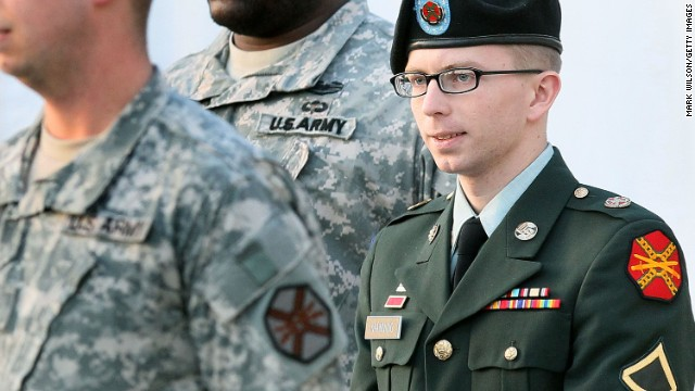 <a href='http://www.cnn.com/2013/06/02/us/manning-court-martial'>Army Pfc. Bradley Manning</a> is accused in the largest leak of classified documents in U.S. history. His court-martial began on June 3. He has pleaded guilty to 10 of 22 charges against him and could face up to two decades in jail. He has pleaded not guilty to the most serious charge - that of aiding U.S. enemies, which carries the potential for a life sentence. At a February proceeding, Manning read a statement detailing why and how he sent classified material in 2010 to <a href='http://www.cnn.com/2013/06/03/world/wikileaks-fast-facts'>WikiLeaks</a>, a group that facilitates the anonymous leaking of secret information.