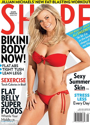 Slim star: Alison graces the May issue of Shape magazine and offers exercise tips