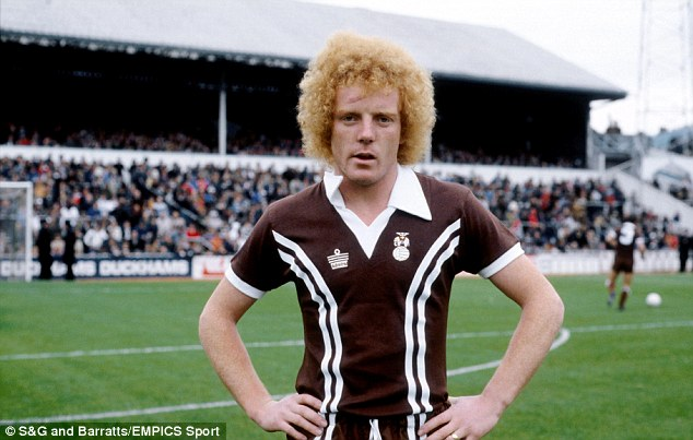 Hairy mistake: It wasn't just the kit that was wrong with Ian Wallace in this picture