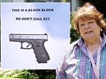 Coy Toloman, pictured, said she doesn't feel neighborhood watch or the local sheriff's office is sufficient and has gotten a concealed carry license.