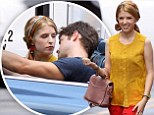 Anna Kendrick and Jeremy Jordan seen filming a scene on the set of The Last 5 Years movie