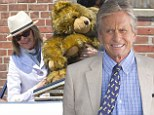 On the set: Michael Douglas and Diane Keaton filmed a scene on Monday in Connecticut for the film And So It Goes