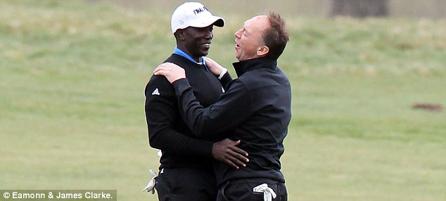 Bragging rights: Dwight Yorke could taunt David Platt about Manchester United's Premier League title victory