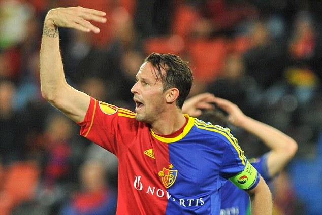 Danger man: Marco Streller stars for Basle against Chelsea