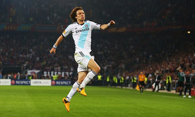 Last laugh: David Luiz struck with the final kick of the game