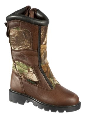 RedHead 10'' Bayou Zip Non-Insulated Waterproof Snake Boots for Youth - 1