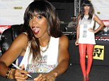 Kelly Rowland was flirty while signing copies of her new album Talk A Good Game at Best Buy in Union Square