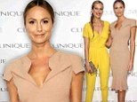 Stacy Keibler and Patre Nemcova at a Clinique event in New York
