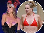 Real Housewives Sonja Morgan, 48, reveals 'lopsided boob job' as she spills out of bustier while performing burlesque dance