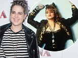 Material girls: Madonna and Kelly Osbourne share a similar taste when it comes to fashion