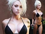 The bandages are off! Courtney Stodden strips down to a black bikini to reveal her new DD cup chest after going under the knife for breast enlargement