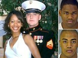 The newly married couple were shot in the head by the ex-Marines