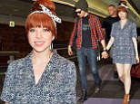 Touchy feely Carly Rae Jepsen holds hands with boyfriend Matthew Koma as she arrives in Japan sporting a VERY short mini dress