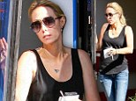 Putting on a brave face: Miley Cyrus's mother Tish looks glum as she is pictured for the first time since split from Billy Ray
