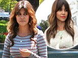A new summery 'do! Kourtney Kardashian gets longer hair extensions and auburn highlights in her hair